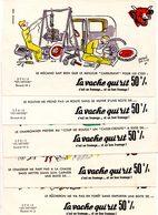 """Buvards Vache Qui Rit. Série Complète De 10 Buvards.  """" Les Métiers """" Dessins Hervé Baille. - Leche"""