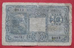 10 Lire 1935 (WPM 32a?) Ausgabe 1944 - [ 1] …-1946 : Kingdom