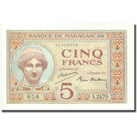 Billet, Madagascar, 5 Francs, Undated (1937), KM:35, SUP+ - Madagascar
