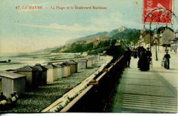 N°66232 -cpa Le Havre -la Plage Et Le Boulevard Maritime- - Le Havre