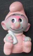 Smurfs Baby, Vintage Rubber Toy Doll, 1984 PEYO DANARA INTERNATIONAL LTD TAIWAN - Smurfs