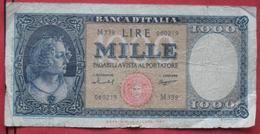 1000 Lire 1947 (WPM 88c) Ausgabe 1959 - [ 2] 1946-… : République