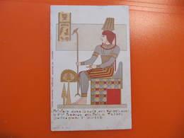 CPA -  Illustrateur : R.M. DE GIORGIO - EGYPTE - PEINTURE DANS LA SALLE DES HARPES - Illustrators & Photographers