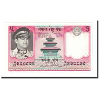 Billet, Népal, 5 Rupees, Undated (1974), KM:23a, NEUF - Népal