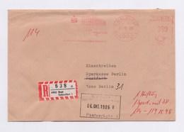Einschreiben AFS - BAD SALZUFLEN, Städtische Sparkasse, 330 Pfg, 1986 - Marcophilie - EMA (Empreintes Machines)