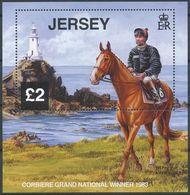 "Jersey 2013: ""Grand National In Aintree"" Michel-No. 1724-1728 Block 105 ** MNH - START BELOW POSTAL FACE VALUE (£ 4.63) - Hippisme"