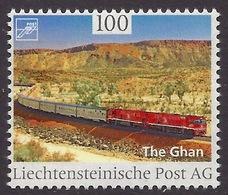 Liechtenstein 2017 Trains - Famous Train, Railways, The Ghan, Bahn MNH - Liechtenstein