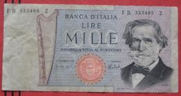 1000 Lire 1969 (WPM 101c) Ausgabe 1973 - [ 2] 1946-… : République
