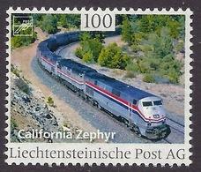 Liechtenstein 2017 Trains - Famous Train, Railways, California Zephyr, Bahn MNH - Liechtenstein