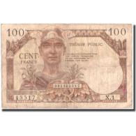 France, 100 Francs, TB, Fayette:VF34.1, KM:M11a - 1955-1963 Trésor Public