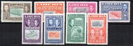 Serie Nº 309/14 + A-64/5 Liberia - Liberia