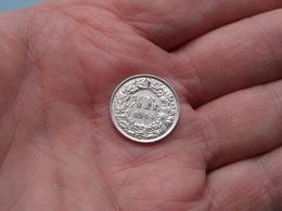 1944 - 1/2 Franc ( KM 23 ) Uncleaned ! - Svizzera