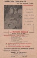 """L'Opération Chirurgicale Est Un """"risque Grave""""  Mutuelle Générale - Buvards, Protège-cahiers Illustrés"""