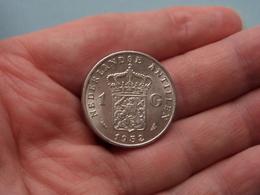 1952 - 1 Gulden ( KM 2 ) Uncleaned ! - Antilles Neérlandaises
