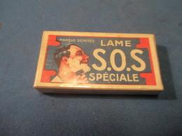 Lames De Rasoir Anciennes/SOS Spéciale/Acier Extra Supérieur/Fabrication Française/(5 Lames)/Vers1920-50   PARF117 - Lames De Rasoir