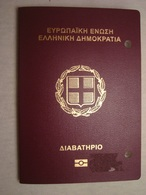 Greece Biometric Passport Reisepass Passeport With Russian Visa And Ink Stamps - Documents Historiques