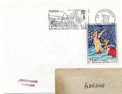 RHIN / Haut - Dépt N° 68 = TURCKHEIM 1968 = FLAMME CONCORDANTE N°  N° 1458 = SECAP Illustrée' VEILLEUR De NUIT ' - Mechanical Postmarks (Advertisement)