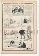 Presse 1904 Humour Jeu De Tric-Trac Backgammon Généalogie Dufourneau Balandard 223CH8 - Vieux Papiers