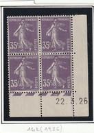 France Coin Daté Du Numéro 142 Du 22 3 1926 Les 4 Timbres Avec Charniéres RRRR - ....-1929
