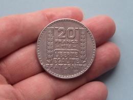 1933 - 20 Franc ( KM 879 ) Uncleaned ! - L. 20 Franchi