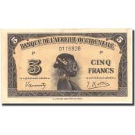 Billet, French West Africa, 5 Francs, 1942, 1942-12-14, KM:28a, SUP+ - États D'Afrique De L'Ouest