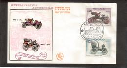 E10 - MONACO - PO563-564 / PO562-565 / PO560-567 Sur 3 FDC Illustrées Voitures Anciennes 13.6.61 - Lettres & Documents