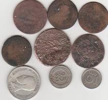 9 PIECES MONNAIE ANCIENNE A DECHIFFRER - Coins & Banknotes