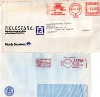 2 Sobres Con Matasellos Rojo Diferentes. - 1931-Hoy: 2ª República - ... Juan Carlos I