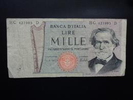ITALIE : 1000 LIRE   5.8.1975     P 101d / C.I.64  BS 482     TTB - [ 2] 1946-… : République