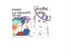 Cinquantenaire De La Loi Neuwirth N°5121 Oblitéré Année 2017 - France