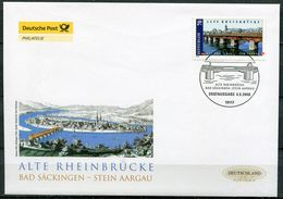 """First Day Cover Germany 2008 Mi.Nr.2691 Ersttagsbrief """"Brücken-Alte Rheinbrücke Bad Säckingen """" 1 FDC - Brücken"""