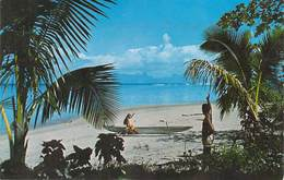 Polynésie Française La Plage De PUNAAUIA (B) TIMBRE STAMP Polynésie Française (Sincere Photo Giau C 11217 Tahiti) - Polynésie Française