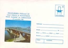 Pod De Cale Ferata Si Autostrada Peste Dunare La Cernavoda Cod 0151/87 - Tarjetas – Máximo