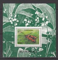 1996 Tanzania Butterflies Souvenir Sheet Of 1 MNH - Tanzania (1964-...)