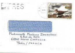 1 Lettre EXPRESS De Kinshasa à Neuve Chapelle France 08/10/1996 T.P. 1489 - 1990-96: Afgestempeld