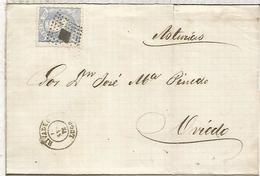 ENVUELTA DE RIVADEO LUGO A OVIEDO 1871 - Cartas