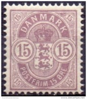DENEMARKEN 1895-02 15öre Wapentype Tanding 12¾ PF-MNH - Nuovi