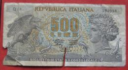 500 Lire 1966 (WPM 93a) Ausgabe 1967 - [ 2] 1946-… : Républic