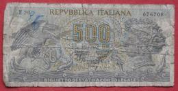 500 Lire 1966 (WPM 93a) Ausgabe 1970 - [ 2] 1946-… : Repubblica
