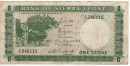 SIERRA  LEONE  1 Leone  P1b    ND  1969   A/7 - Sierra Leona