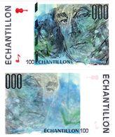 FRANCE TEST NOTE ECHANTILLON ORIGINAL BANQUE DE FRANCE 100 MAURICE RAVEL NEUF - Francia
