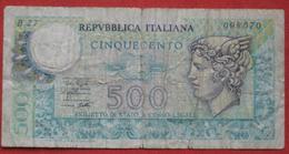 500 Lire 1974 (WPM 94) Ausgabe 1979 - [ 2] 1946-… : Républic