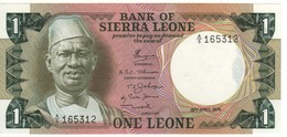SIERRA  LEONE  1 Leone  P5a    Dated  19.4.1974   A/5 - Sierra Leone
