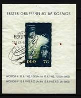 DDR - Block Nr. 17 - Erster Gruppenflug Wostock 3 Und Wostock 4 Gestempelt Berlin (2) - DDR