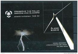 Aland 2009 Bloc N° 7 Neuf, Protection Des Zones Polaires électricité - Aland