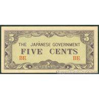 TWN - BURMA 10a - 5 Cents 1942 Block BE AU/UNC - Myanmar