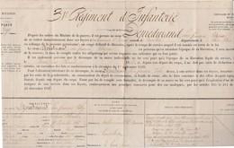 31ème Régiment Infanterie Gap 05 / 1863 / Congé De Libération / Voltigeur / Signalement + Etat De Services - Militaria