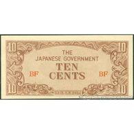 TWN - BURMA 11a - 10 Cents 1942 Block BF AU/UNC - Myanmar