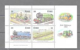 Hoja Bloque De Irlanda Nº Yvert HB-5 **  TRENES (TRAINS) - Hojas Y Bloques
