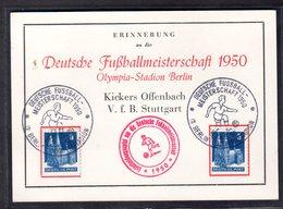 """Ereigniskarte, """"Deutsche Fußballmeisterschaft 1950"""" - Bizone"""